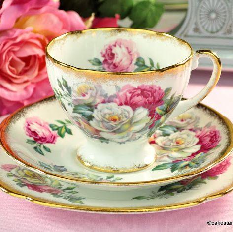 Royal Standard Irish Elegance Vintage Fine Bone China Teacup Trio