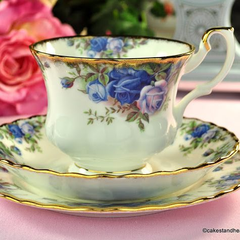 Royal Albert Moonlight Rose Vintage Teacup Trio