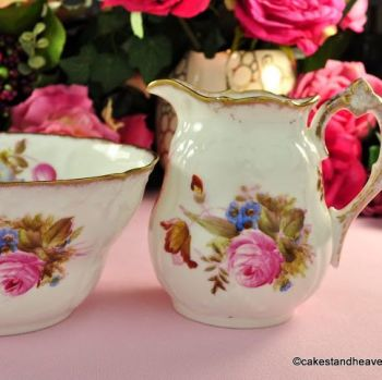 Antique Williamson & Sons Creamer and Sugar Bowl c.1895
