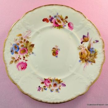 Antique Williamson & Sons Hand Painted Cake Plate c.1895
