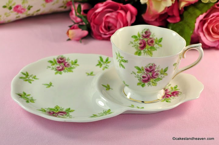 Royal Albert Rose Bone China Tea Cup Tennis Set c.1950s