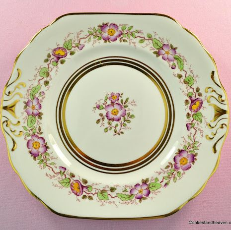 New Chelsea Old England Vintage Fine Bone China Cake Plate c.1936+