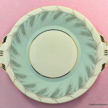 Aynsley Blue Wheat Vintage Bone China Cake Plate