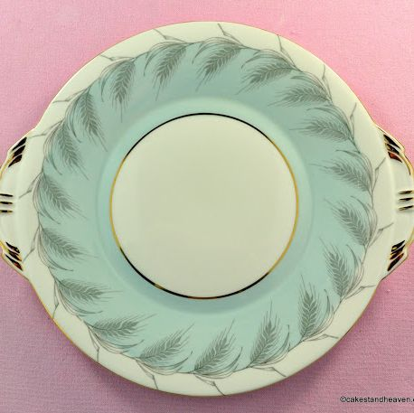 Aynsley Powder Blue Vintage Bone China Cake Plate