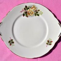 Gladstone Vintage China Blush Rose Cake Plate c.1960s