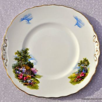 Royal Vale Homestead Pattern Cake Plate