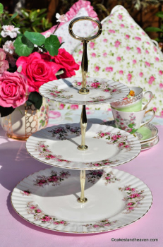 Royal Albert Lavender Rose Vintage Bone China 3 Tier Cake Stand