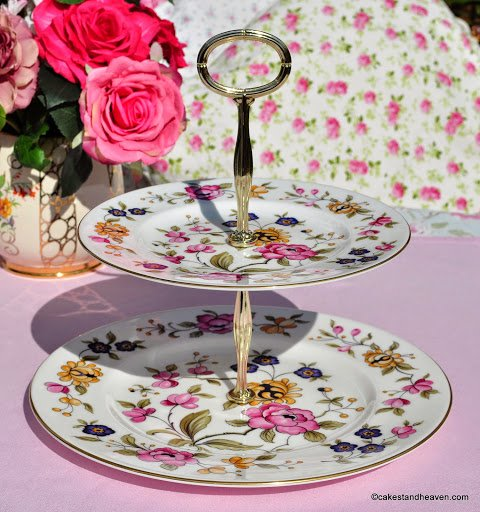 Coalport ??? Vibrant Vintage Two-Tiered Cake Stand