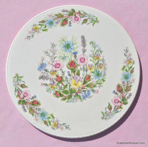 Aynsley Wild Tudor Gateau or Celebration Cake Plate