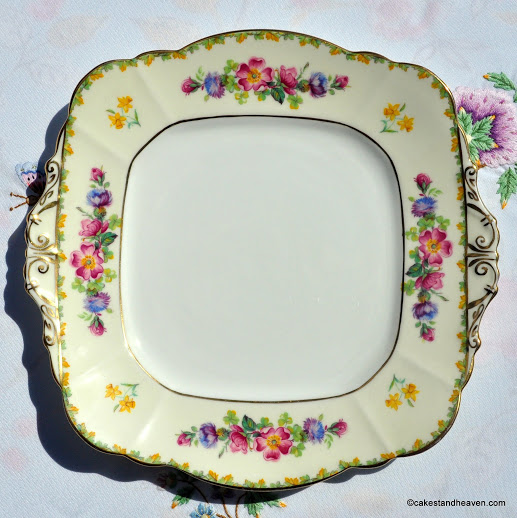Paragon George VI Coronation Floral China Cake Plate c.1937
