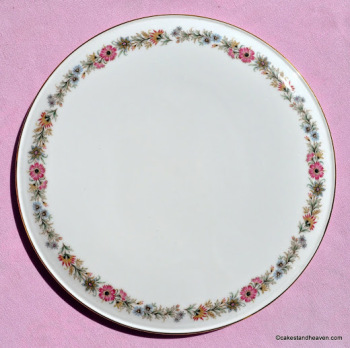 Paragon Belinda Pattern Vintage Bone China Gateau Plate c.1960s