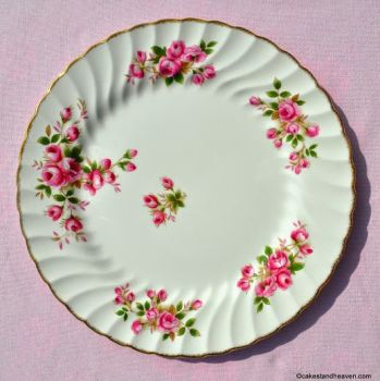 Johnson Bros. Regency Pink Roses 25cm Vintage Dinner Plate c.1940s