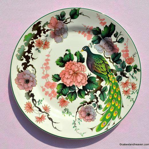 Myott Meakin Exotic Garden 25cm Vintage Dinner Plate c.1960s