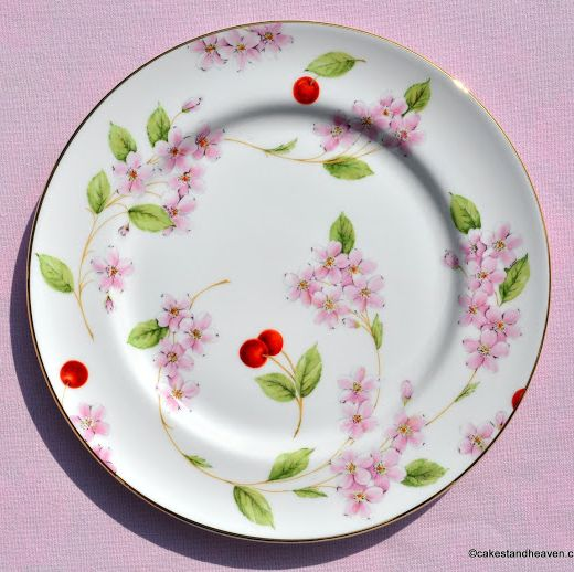 Aynsley Cherry Blossom Pattern 20.5cm Vintage Bone China Plate