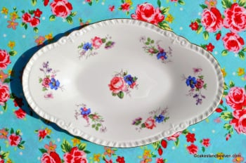 Royal Chelsea Posie Oval Bone China Biscuit Tray c.1950s