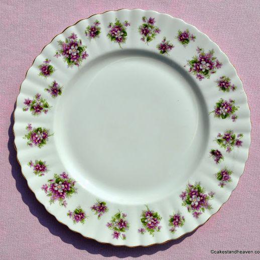 Royal Albert Sweet Violets Vintage China 24cm Plate c.1970s