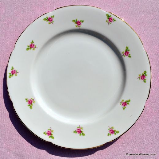 Royal Grafton Ditsy Roses 24.5cm Fine Bone China Plate c.1950s