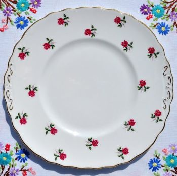 Colclough Fragrance Ditsy Pink Roses Vintage Cake Plate
