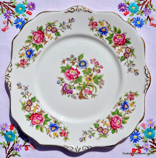 Royal Stafford Rochester Vintage Floral Cake Plate c.1950s