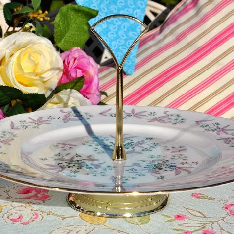 Colclough Vintage Hostess Cake Serving Stand