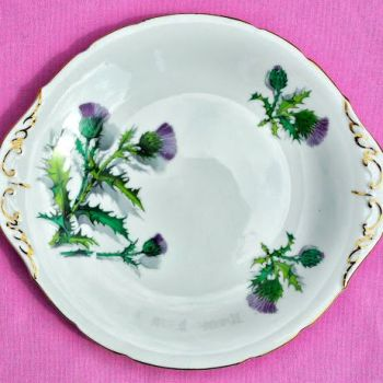 Paragon Scottish Thistle Cake Plate c.1950s