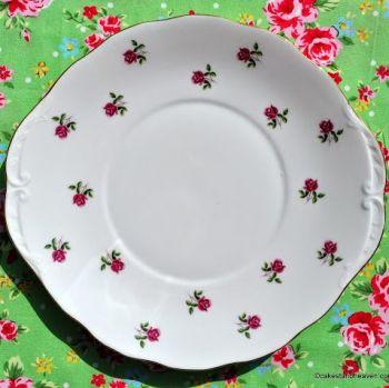 Colclough Fragrance Little Roses Vintage Oval Serving Plate