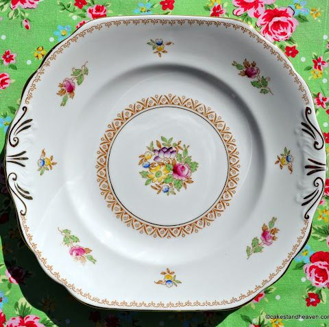 New Chelsea Emperor 1930s Hand Painted Vintage Cake Plate