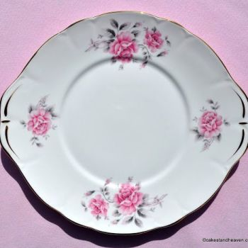 Duchess Pale Pink Rose Cake Plate c.1960s