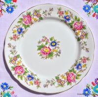 Royal Stafford Rochester Vintage Floral 21cm Plate c.1950s