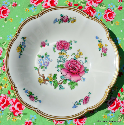 Antique Adderleys Floral Bone China Dessert Bowl c.1912