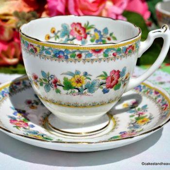 Coalport / Foley Ming Rose Vintage China 7 fl.oz. Teacup and Saucer