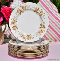 Colclough Avon Vintage Bone China Leaf Pattern 20cm Plate