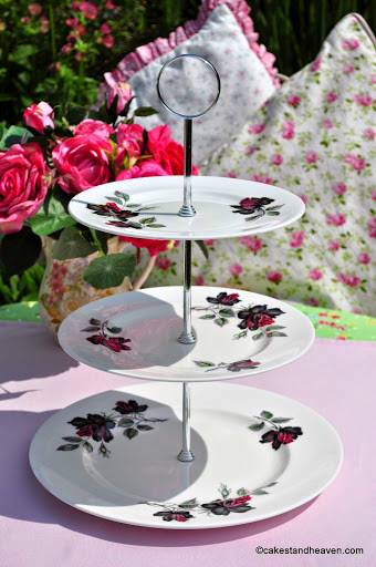 Royal Albert Masquerade Three-Tiered Vintage Cake Stand