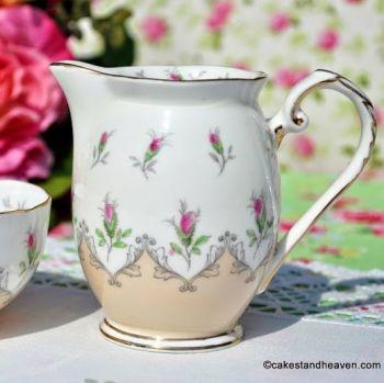 Grafton China Corinth Rose Buds Mini Milk Jug & Sugar Bowl c.1930s