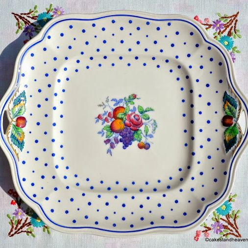 Spode's Polka Dot Copeland Spode 1930s Vintage Bread and Butter Plate