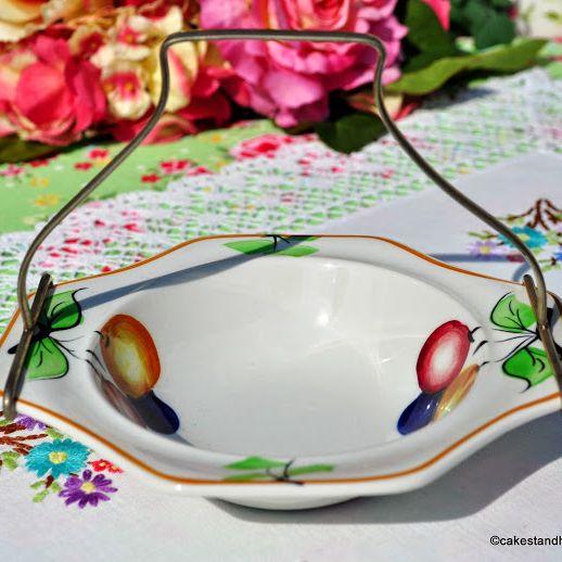 Solian Ware Preserve Dish and E.P.N.S. Handle c.1930+