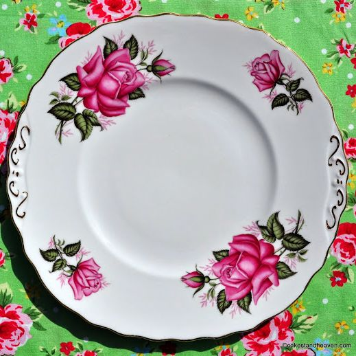 Colclough Pink Roses Vintage China Cake or Sandwich Plate