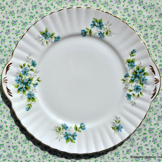 Royal Stafford Coquette Vintage Bone China Cake Plate