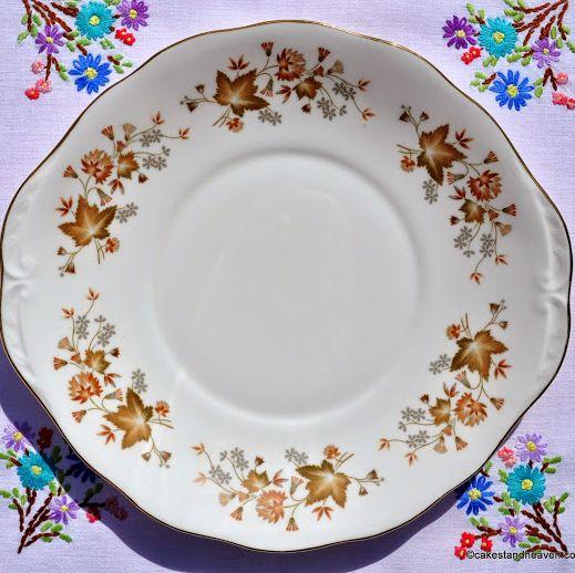 Colclough Avon Bone China Oval Handled Cake Plate