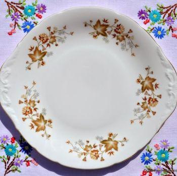 Colclough Avon Bone China Embossed Handled Cake Plate