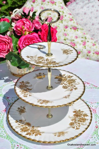 Royal Albert Golden Glory Vintage 3 Tiered Cake Stand c.1960s