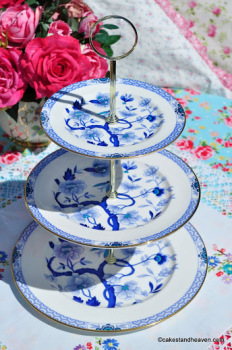 Royal Grafton Dynasty Vintage China 3 Tier Cake Stand c.1950s