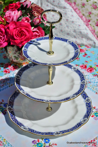 Royal Crown Derby Milldale Bone China 3 Tier Cake Stand