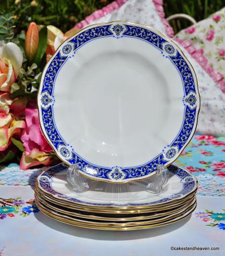 Royal Crown Derby Milldale Bone China 16cm Tea Plates x 6