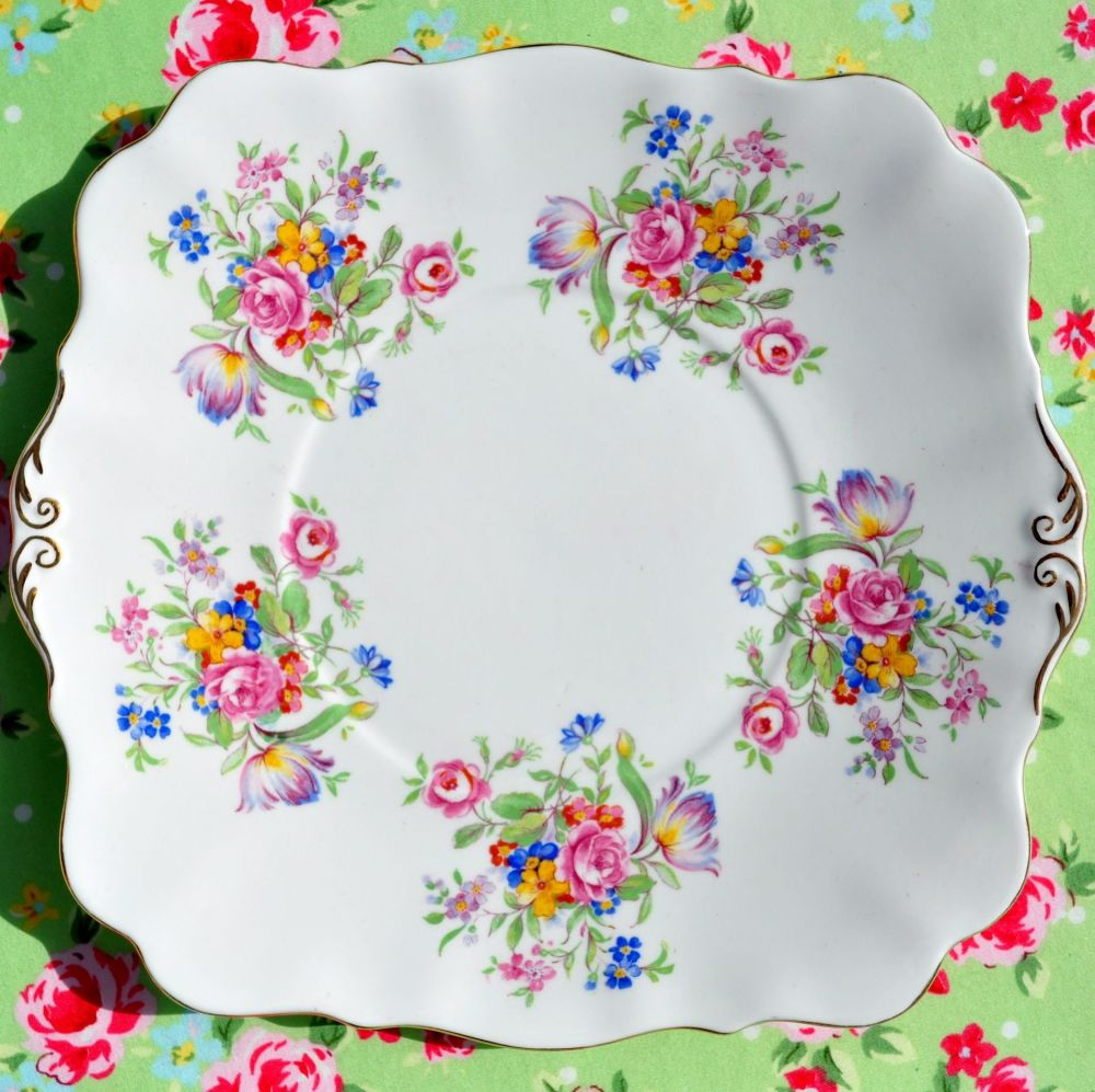 Royal Standard Posies Fine China Cake Plate c.1940s
