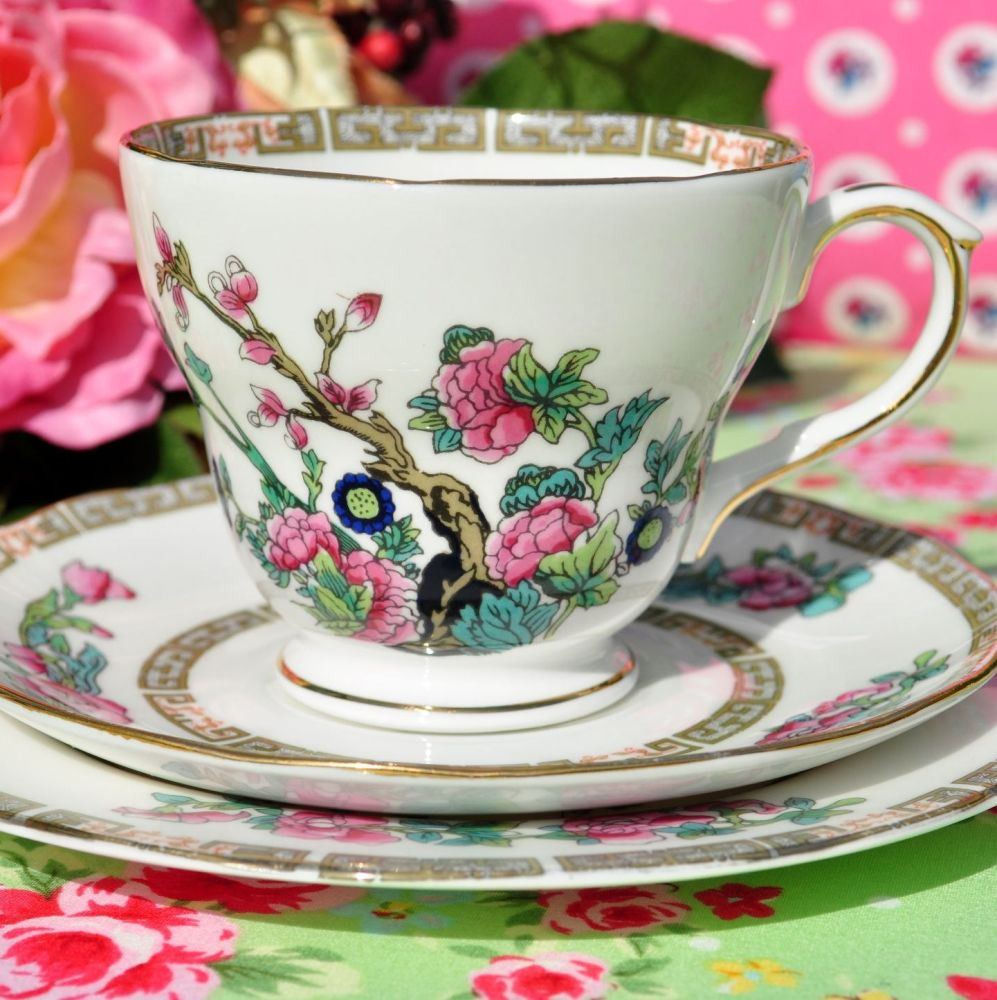 Duchess Indian Tree Vintage China Teacup Trio