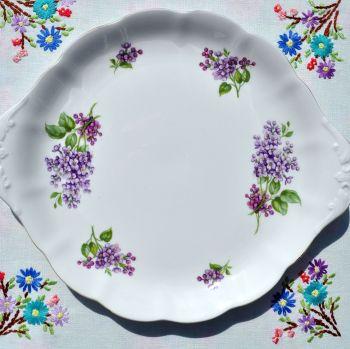 Richmond Lilacs Pattern Vintage Bone China Cake Plate