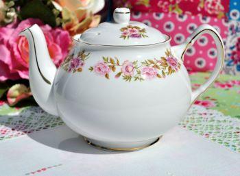 Duchess Summer Time Pink Floral China Teapot
