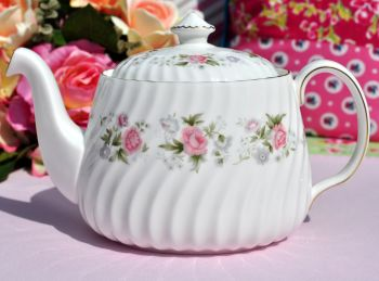 Minton Spring Bouquet Pink Floral China Teapot