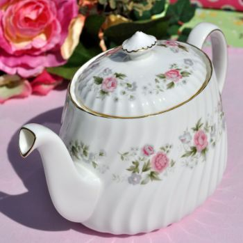 Minton Spring Bouquet Pink Floral China Teapot